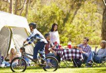 kamperen in een tent
