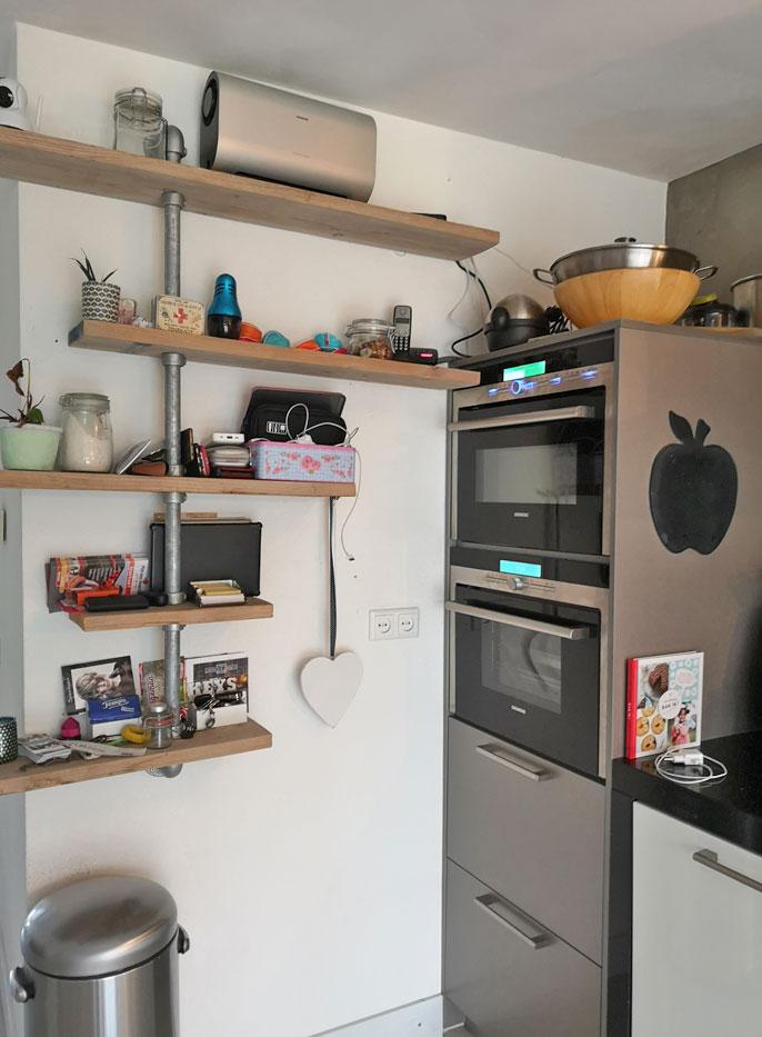 industriele keuken met steigerhout