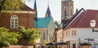 Ribe stad Zuid-Denemarken