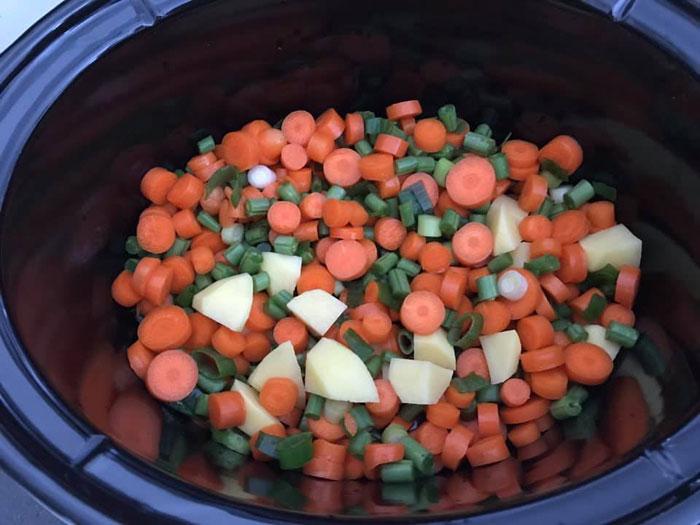 groenten in slowcooker