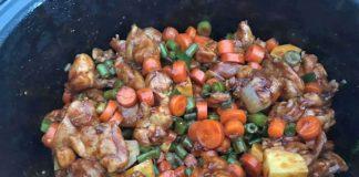 kipdijfilet in slowcooker met groenten