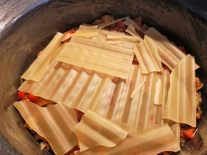 lasagne maken slowcooker