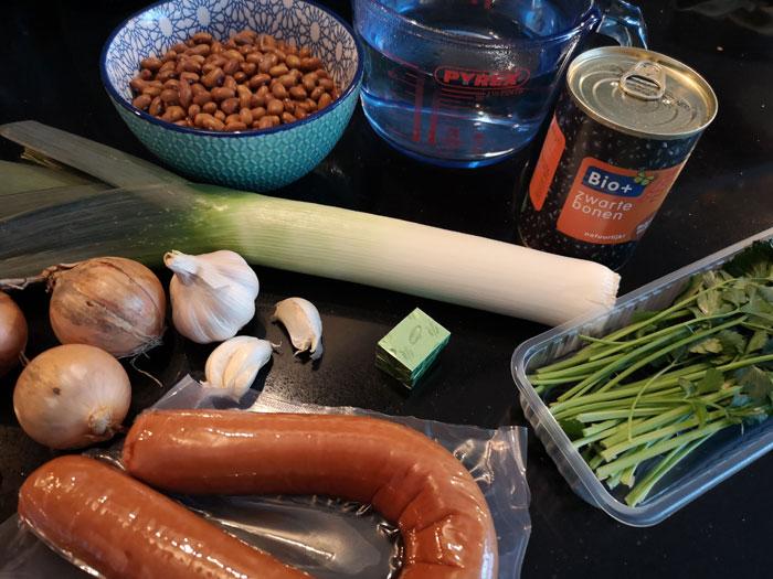 bruine bonensoep ingrediënten