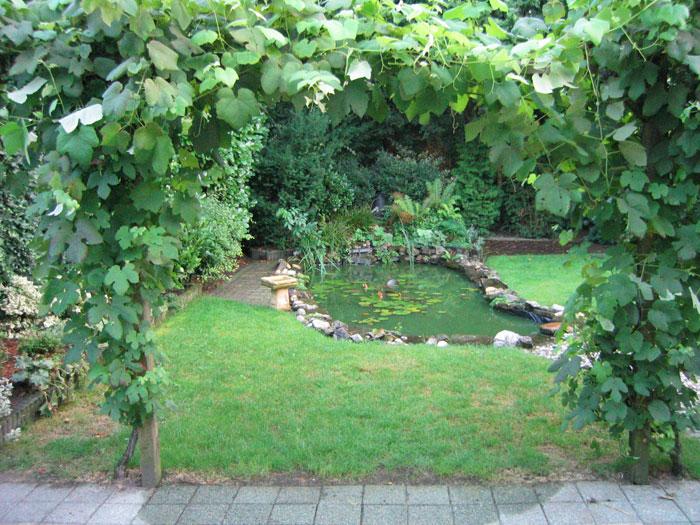 parkachtige tuin