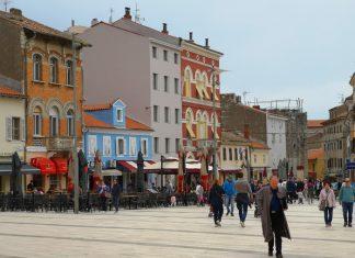 straatjes in porec kroatie
