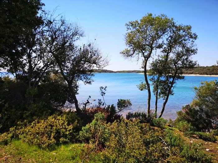 uitzicht vanaf de Brijuni eilanden