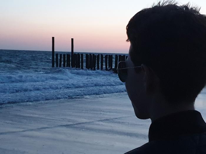 Luc, dishoek, strand, avond