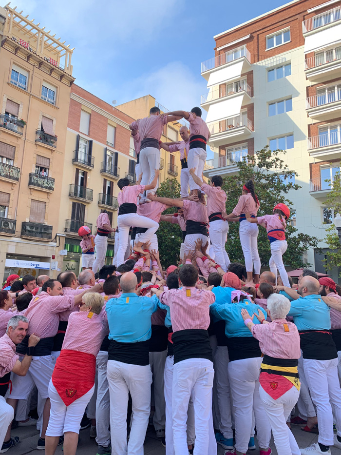 human towers, Tarragone, Costa Daurade