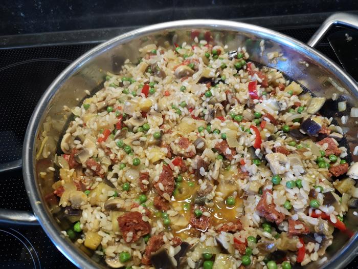 risotto champignons en aubergine