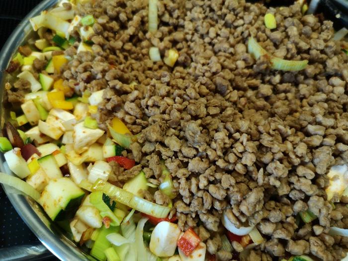 vegetarische lasagne met vegetarisch gehakt