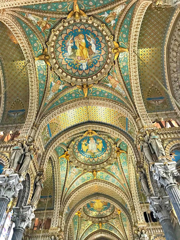 Notre Dame de Fourviere binnenkant koepel