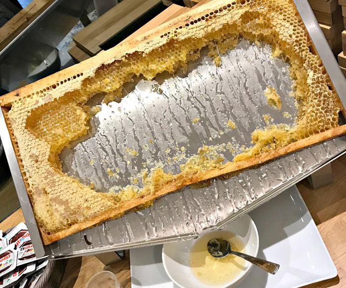 Ontbijt Hotel la Charpiniere verse honing