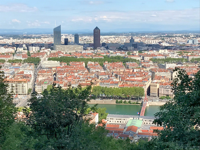 citytrip Lyon uitzicht stad