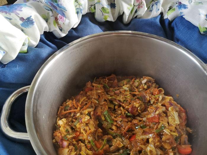 curry maken in de ecostoof