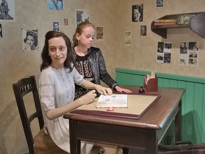 Anne Frank in Madame Tussauds