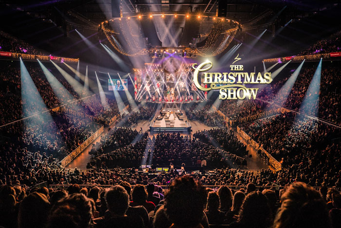 'voorstelling van the Christmas Show