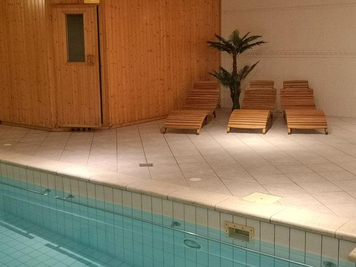 zwembad en sauna bij de Hoeve van Nunspeet