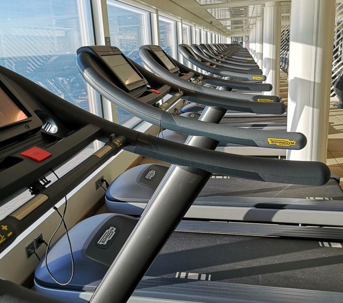 Hardlopen en sporten op cruiseschip