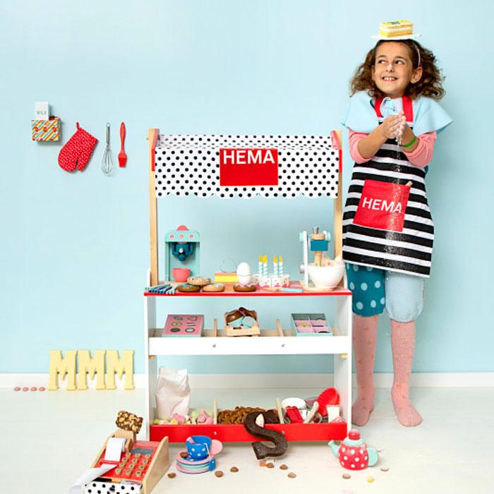 houten bakkerijtje, winkel speelgoed Hema