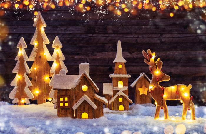 kerstdorp bouwen