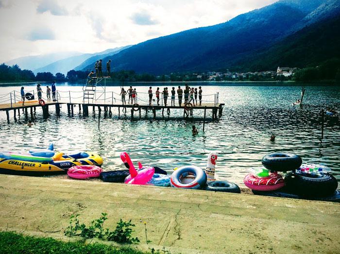 Camping al Lago aan het meer in Italie