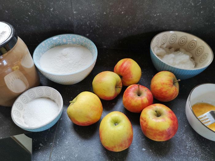 ingredienten appeltaart in slowcooker
