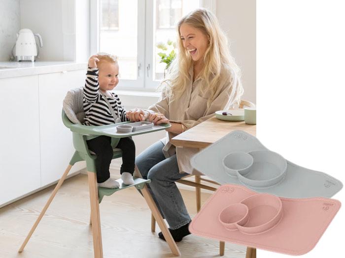 Stokke Clikk kinderstoel en placemats