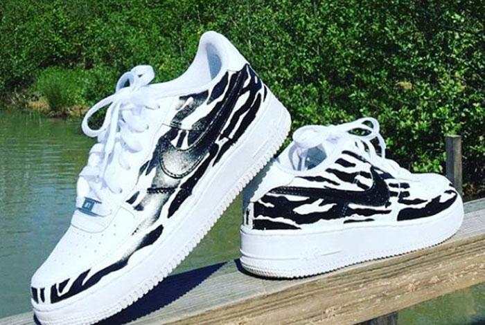 zomer sneakers met print