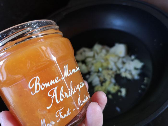 abrikozen jam in een rundvlees recept voor de slowcooker