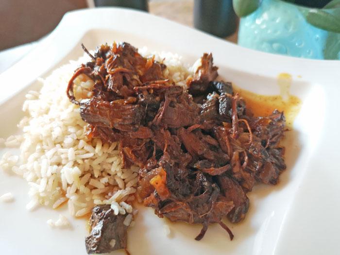 rundvlees met rijst uit de slowcooker