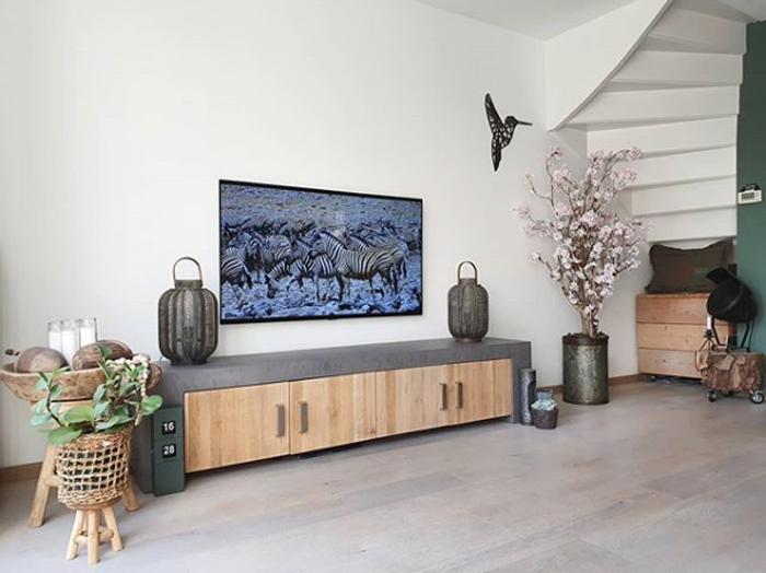 tv meubel zelf maken of opknappen met beton cire