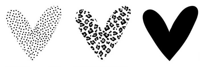 muurcirkels hartvorm