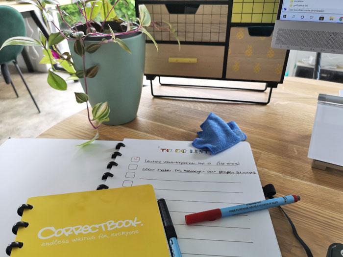 uitwisbaar notitieboek review van een notitieblok wat je steeds kan hergebruiken