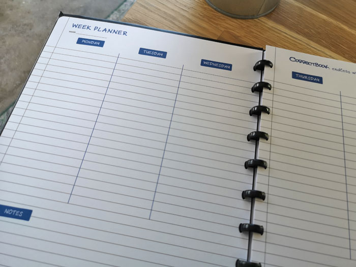 uitwisbare weekplanner