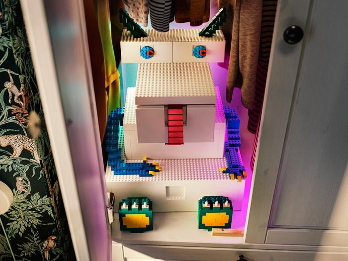 BYGGLEK van IKEA en LEGO om te spelen en op te bergen