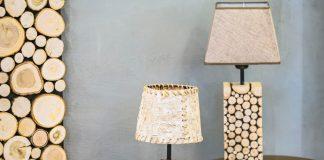 zelf lamp maken van boomstam