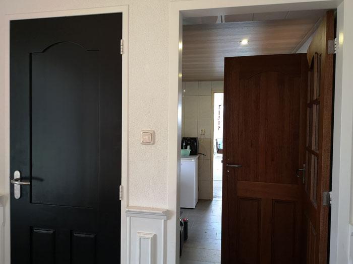 binnendeur zwart verven