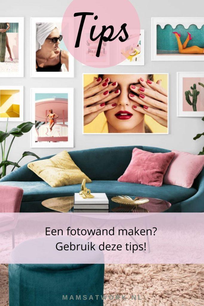 kleurrijke fotowand maken