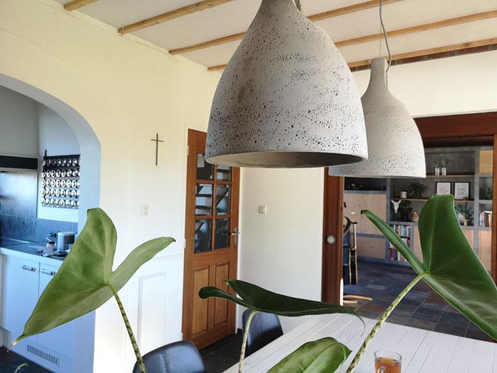 keuken pimpen met nieuwe betonnen lampen