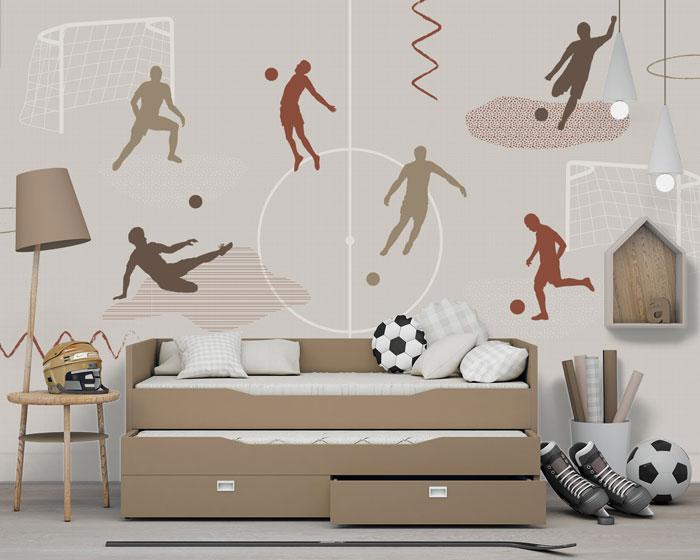 voetbal behang jongenskamer