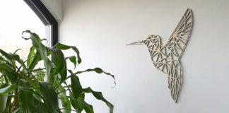 houten wanddecoratie kolibrie
