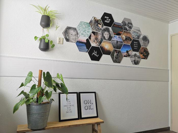 Hexagons Foto Tips Voor Muurdecoratie In Iedere Kamer