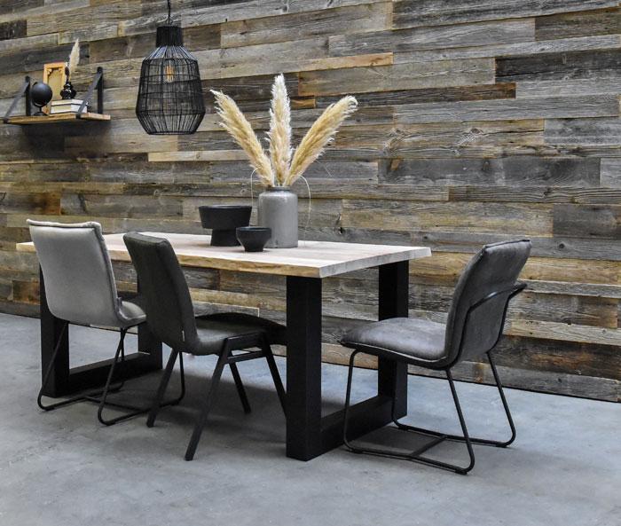 houten wandafwerking grey