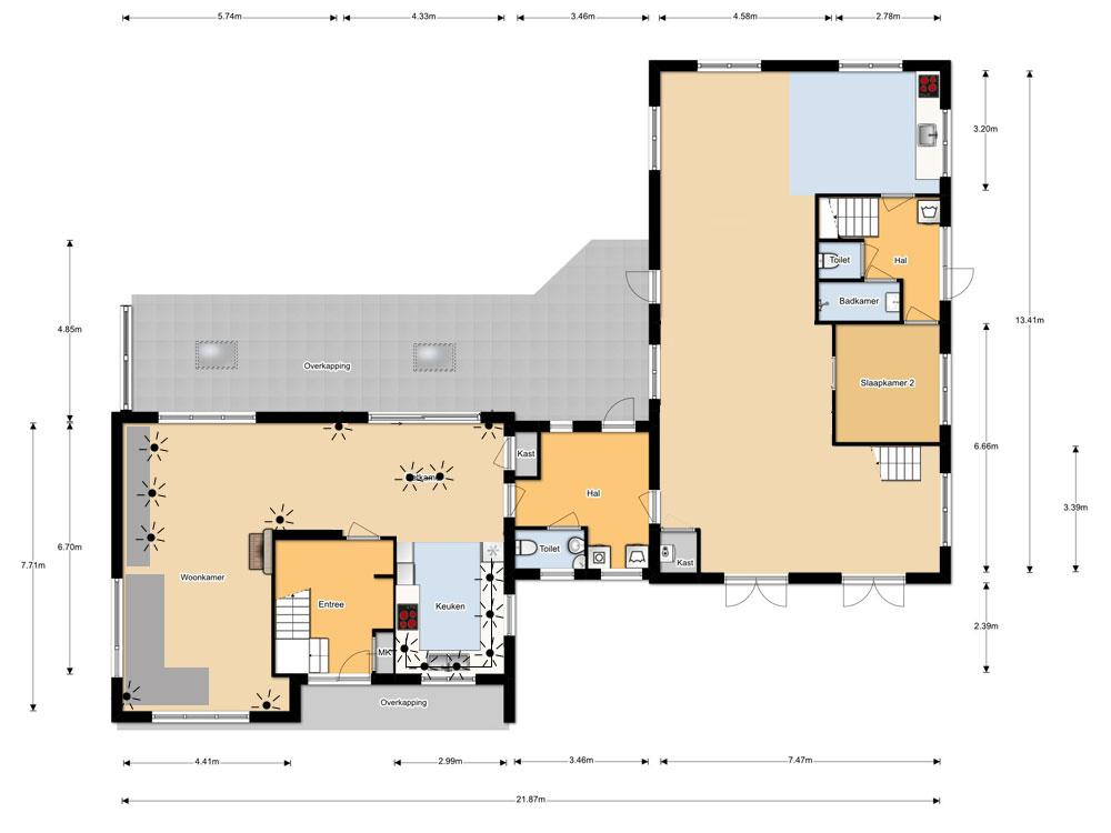 Lichtplan huis maken