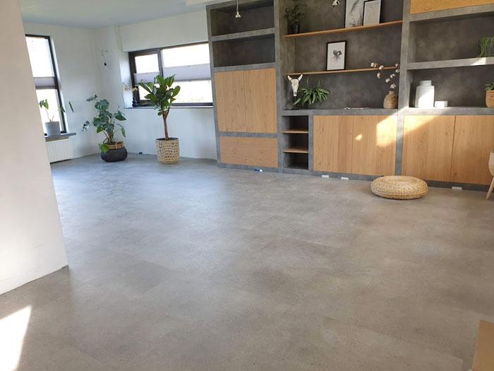 pvc vloer in betonlook