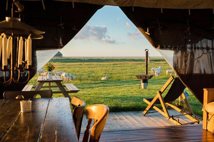 uitzicht boerenbed tent