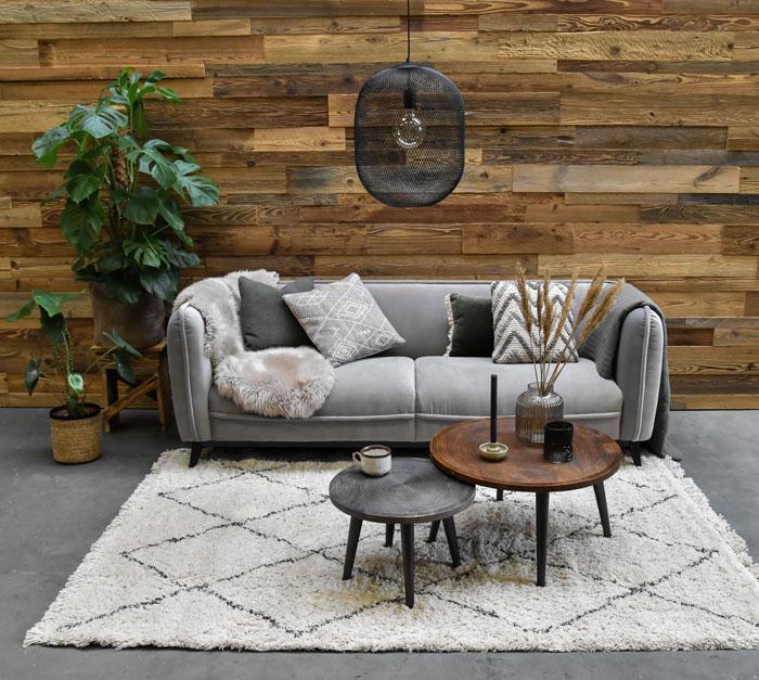 Wand afwerking met hout
