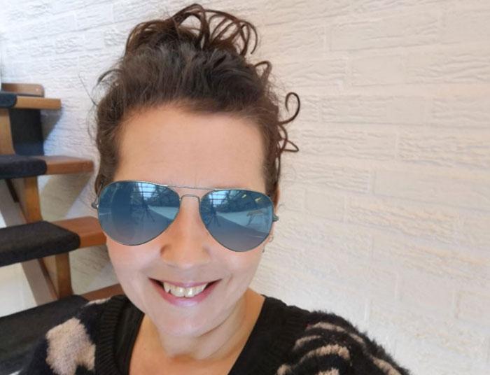Zo ziet de Rayban Aviator zonnebril eruit