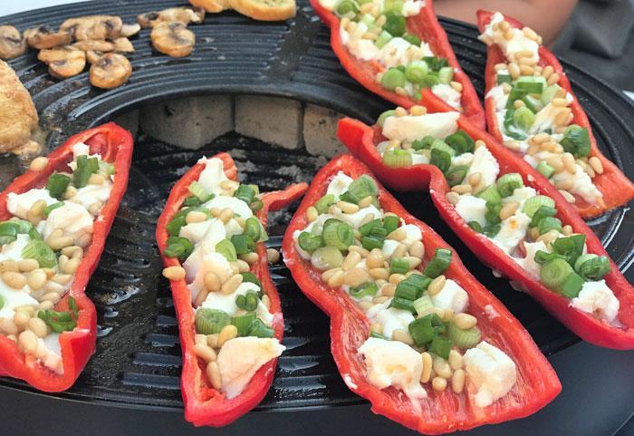 gevulde paprika vegetarisch barbecue