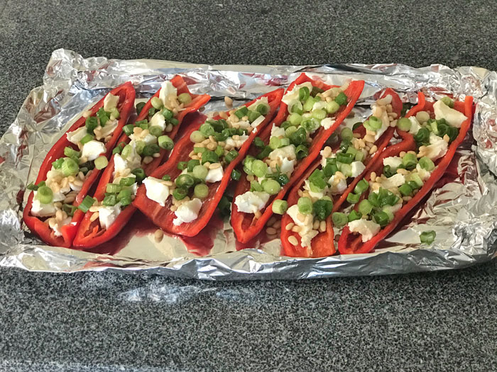 vegetarisch gevulde paprika
